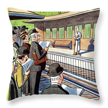Railroad Station Throw Pillows