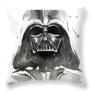 Darth Vader Watercolor Throw Pillow