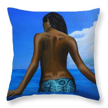 Vahine De Tahiti Throw Pillow by Wahine Art
