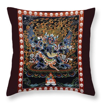 Vajrakilaya Dorje Phurba Throw Pillow