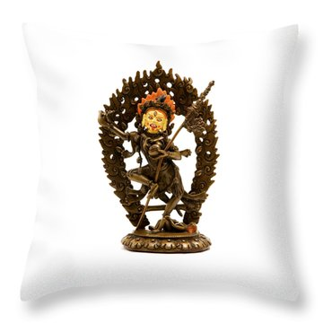 Vajrayogini Throw Pillow by Fabrizio Troiani