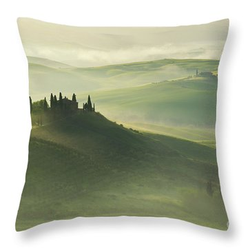 Val D'orcia Throw Pillow by Jaroslaw Blaminsky