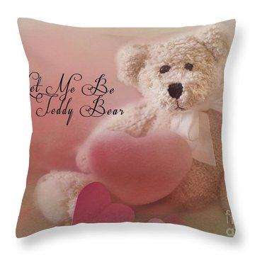 Valentine Bear 2 Throw Pillow
