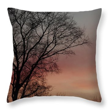 Valentine Day Sunset Throw Pillow by Tannis  Baldwin