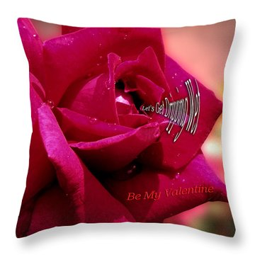 Valentine Dripping Wet Throw Pillow by Thomas Woolworth