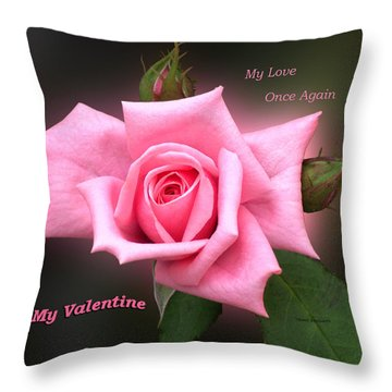 Valentine My Love Throw Pillow by Thomas Woolworth