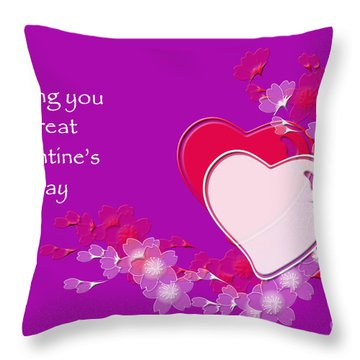 Throw Pillow featuring the photograph Valentine by Randi Grace Nilsberg