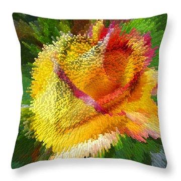 Valentine Rose Throw Pillow by Anne Mott