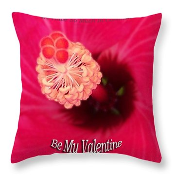 Valentine We Have So Much In Common Throw Pillow by Thomas Woolworth