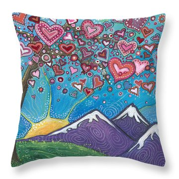Valentine Wishes Throw Pillow by Tanielle Childers