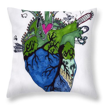 Valentine's Day 2015 Throw Pillow by Ethan Altshuler