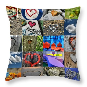 Valentine's Day - Hearts For Sale Throw Pillow