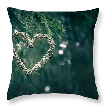 Valentine's Day In Nature Throw Pillow