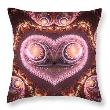 Valentine's Premonition Throw Pillow by Svetlana Nikolova