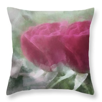 Valentine's Roses Throw Pillow