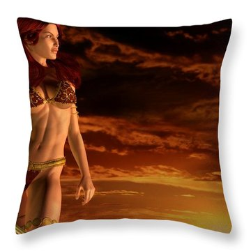 Valkyrie Sunset Throw Pillow by Kaylee Mason