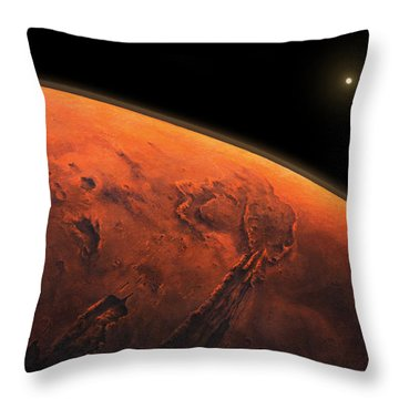 Valles Marineris Sunrise Throw Pillow