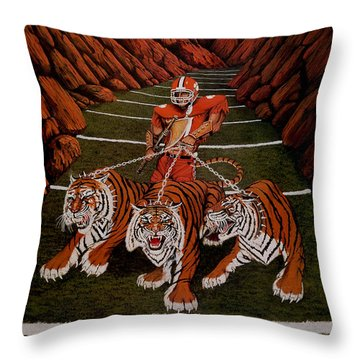 Valley Of Death Throw Pillow by Jeff McJunkin