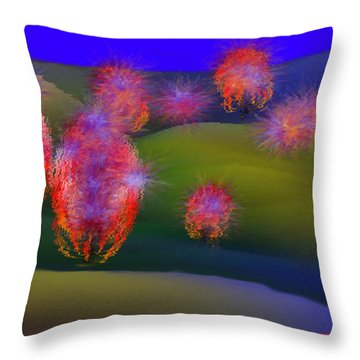 Valley Of Fallen Stars Throw Pillow