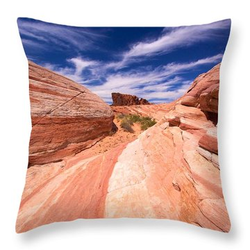 Valley Of Fire 2 Throw Pillow