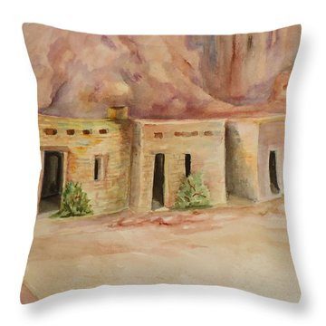 Valley Of Fire Cabins Throw Pillow