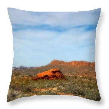 Valley Of Fire Throw Pillow by Marti Green