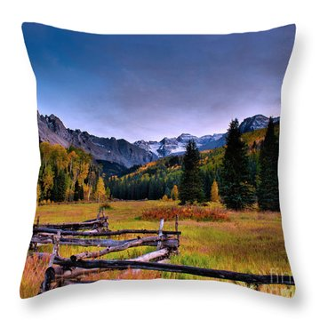 Valley Of Mt Sneffels Throw Pillow by Steven Reed