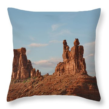 Valley Of The Gods - Escape From Civilization Throw Pillow by Christine Till