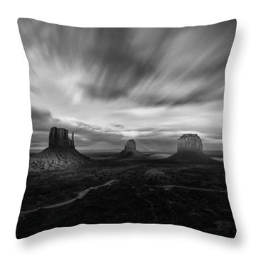 Valley Of Time Throw Pillow