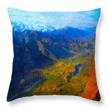 Valley Shadows Throw Pillow