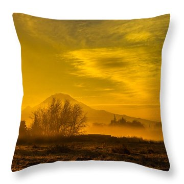 Throw Pillow featuring the photograph Valley Sunrise by Ken Stanback