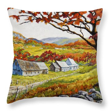 Valley View By Prankearts Throw Pillow by Richard T Pranke