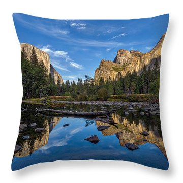 Valley View I Throw Pillow