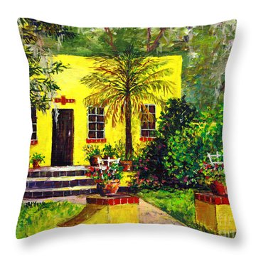 Throw Pillow featuring the painting Vamo Road House by Lou Ann Bagnall