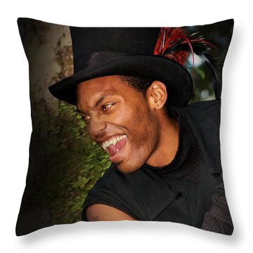 Vampire At Night Throw Pillow