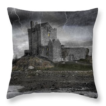 Vampire Castle Throw Pillow
