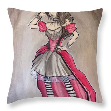 Vampire Mihela Throw Pillow by Jimmy Adams