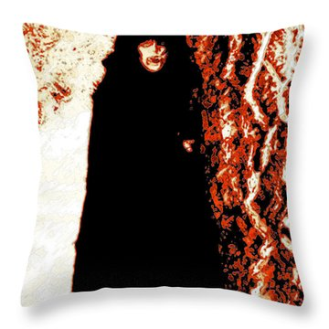 Vampire Red  Throw Pillow by First Star Art