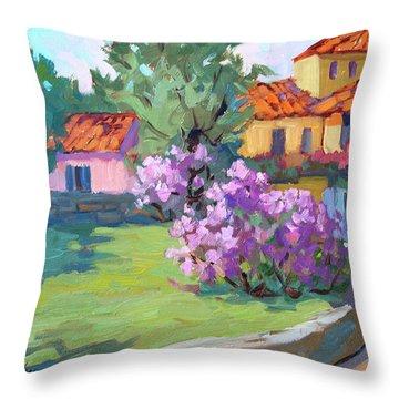 Van Gogh Hospital St. Remy Throw Pillow