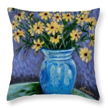 Van Gogh-ish Flowers In A Vase Throw Pillow