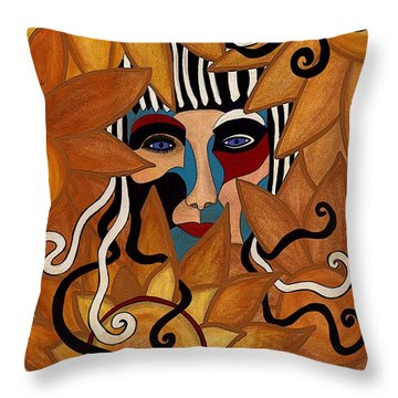 Van Gogh Meets Picasso Throw Pillow by Barbara St Jean