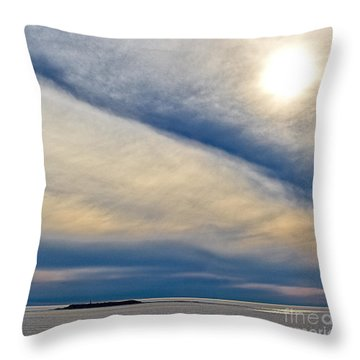 Van Gogh Sky Throw Pillow by Don Hall