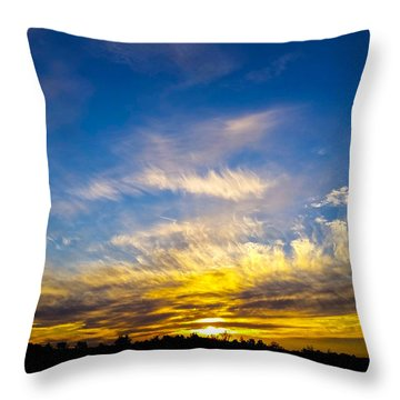 Throw Pillow featuring the photograph Van Gogh Sunset by Jean Haynes