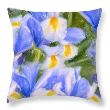 Van Gogh's Iris Throw Pillow by Angela A Stanton
