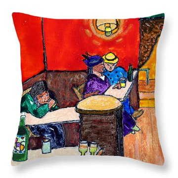 Van Gogh's Lovers Throw Pillow