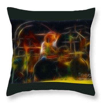 Van Halen-alex-93-gc5-fractal Throw Pillow by Gary Gingrich Galleries