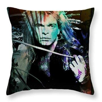 Van Halen - David Lee Roth Throw Pillow