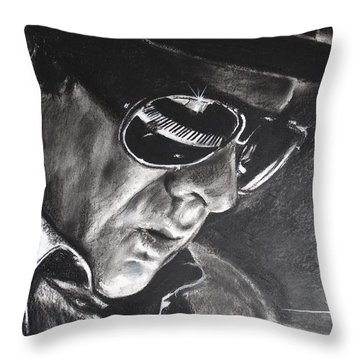 Van Morrison -  Belfast Cowboy Throw Pillow by Eric Dee