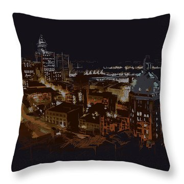 Vancouver Art 009 Throw Pillow by Catf
