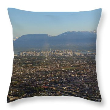 Vancouver At A Glance Throw Pillow